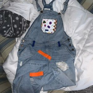 fun painted overalls! (did it myself)
